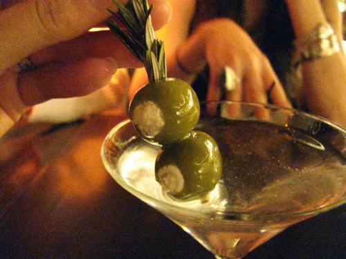martini-with-blue-cheese-stuffed-olives